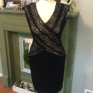 Calvin Klein Little Black Dress Lace Size 4 S